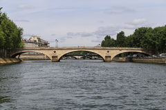 The landscape over senie river,paris Royalty Free Stock Image