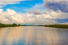 Landscape over Zambezi river Royalty Free Stock Image