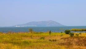 The landscape in Pa Sak Jolasid Dam. Thailand Royalty Free Stock Photo
