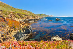 Landscape of Pacific Ocean at Garrapata State Park Royalty Free Stock Photos