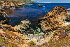 Landscape of Pacific Ocean at Garrapata State Park Royalty Free Stock Photo