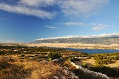Landscape on Pag Royalty Free Stock Photo