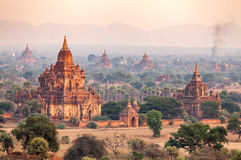 Landscape of Pagodas in Bagan Stock Image