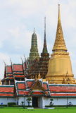 Landscape and Pagodas in Wat Phra Kaew royalty free stock photos