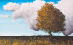 Landscape, Paint on canvas royalty free illustration