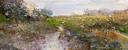 Landscape painting Royalty Free Stock Image