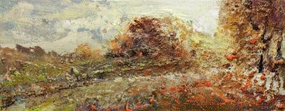 Landscape painting vector illustration