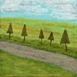Landscape painting Stock Photos