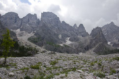 Landscape of Pale di San Martino, Trentino - Dolomites, Italy. Stock Photos