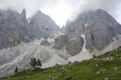Landscape of Pale di San Martino, Trentino - Dolomites, Italy. Royalty Free Stock Photo