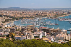 Landscape from Palma. Landscape view of Palma, Spain Stock Photo