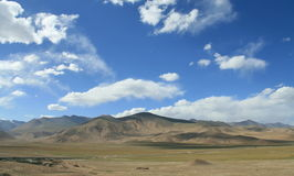 Landscape on the Pamirs Plateau Royalty Free Stock Photo