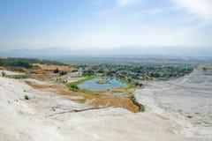 Landscape of Pamukkale Stock Image