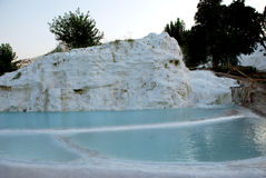 Landscape of Pamukkale, Turkey, Royalty Free Stock Photography