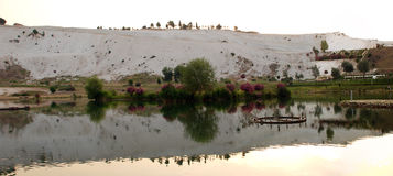 Landscape of Pamukkale, Turkey, Stock Photo