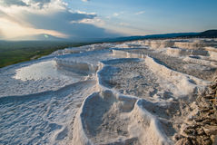 Landscape in Pamukkale, Turkey Stock Photo