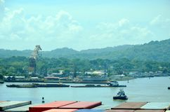 Landscape of the Panama Canal. stock photography