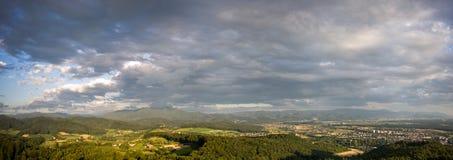 Landscape panorama 180° Stock Photography