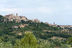 Landscape with panorama of Chianciano (Tuscany) Stock Photos