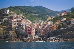 Panorama of Rio Maggiore in Cinque Terre Royalty Free Stock Image
