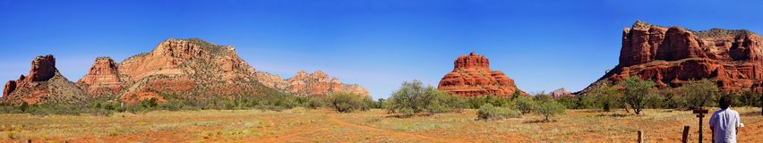 Landscape Panorama - Monument Valley. Landscape Panorama of Monument Valley in Arizona, USA Stock Photo