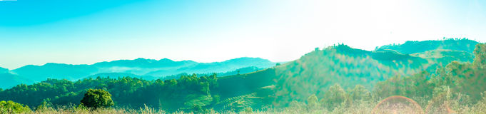 Landscape Panorama on mountain in thailand Stock Photography