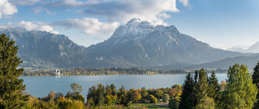 Landscape Panorama with Mountains Stock Photography