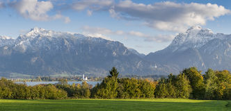 Landscape Panorama with Mountains Stock Photos