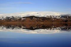 Landscape panorama of the Myrdal Jökull glacier Stock Photos