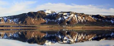 Landscape panorama of the Myrdal Jökull glacier Stock Photo