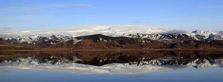 Landscape panorama of the Myrdal Jökull glacier Stock Image