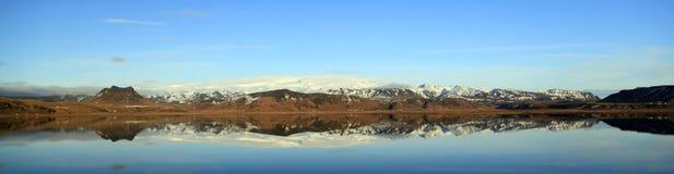 Landscape panorama of the Myrdal Jökull glacier Royalty Free Stock Images