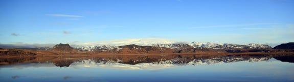 Landscape panorama of the Myrdal Jökull glacier Royalty Free Stock Photos