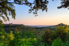 Landscape Panorama in Summer in Bavaria Royalty Free Stock Photos