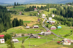 Landscape panorama Tihuta pass - Romania Stock Image