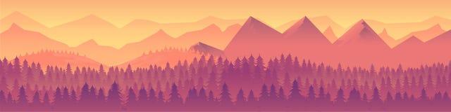 Landscape panorama Vector illustration Stock Photos