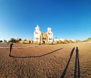 Mission San Xavier Del Bac in Tucson, Arizona royalty free stock images