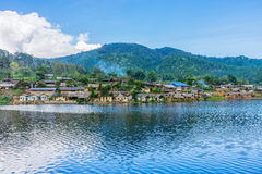 Landscape panorama view of landmark of Rak Thai village Royalty Free Stock Photo