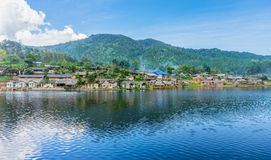 Landscape panorama view of landmark of Rak Thai village Royalty Free Stock Images