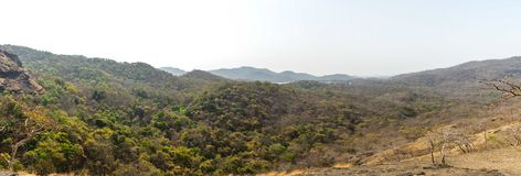 Landscape and Panoramic Photography of Brown and Green Mountain Royalty Free Stock Images