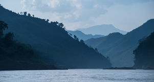 Landscape panoramic view of Mekong river Stock Photography