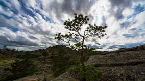 Landscape. Panoramic view of rocky terrain stock video footage