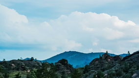 Landscape. Panoramic view of rocky terrain, timelapse stock video footage