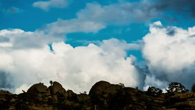 Landscape. Panoramic view of rocky terrain, timelapse stock footage