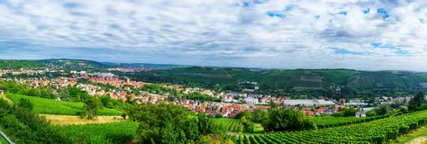 Landscape and panoramic view of Wurzburg, Bavaria Stock Image