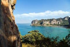 Landscape tropical island andaman sea in Krabi, Thailand. Landscape of paradise tropical island andaman sea in Krabi, Thailand. limestone rocks Stock Photo