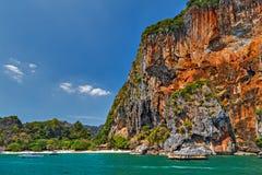 Landscape tropical island andaman sea in Krabi, Thailand. Landscape of paradise tropical island andaman sea in Krabi, Thailand. limestone rocks Stock Image