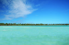 Landscape of paradise tropical island beach Stock Photos