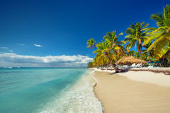 Landscape of paradise tropical island beach Stock Photography