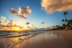 Landscape of paradise tropical island beach Stock Images
